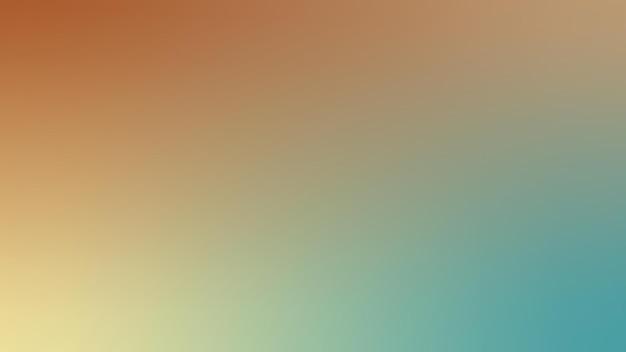 Gradiënt, wazig groenblauw, verbrande sienna, beige, gele gradiënt wallpaper achtergrond