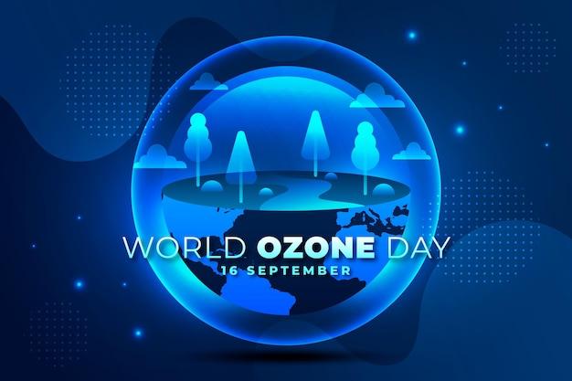 Gradiënt wereld ozon dag achtergrond