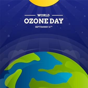 Gradiënt wereld ozon dag illustratie