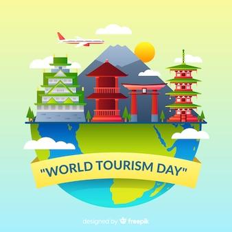 Gradiënt wereld toerisme dag