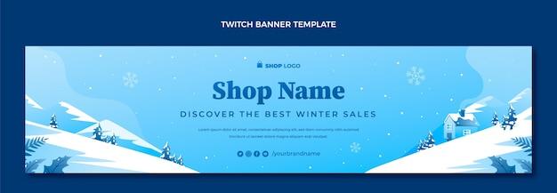 Gradiënt winter twitch banner
