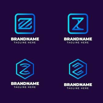 Gradient # z letter logo-collectie