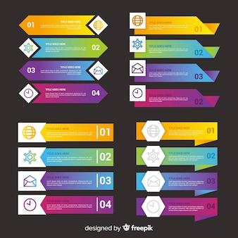Gradient zakelijke infographic