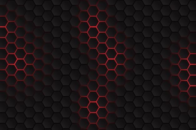 Gradient zeshoekige achtergrond