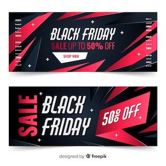 Gradiënt zwarte vrijdag banners