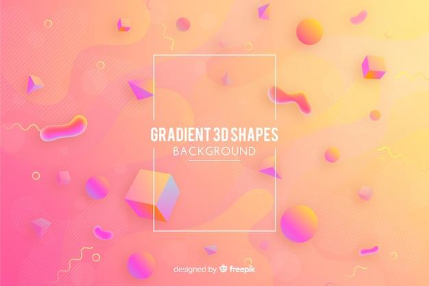 Gradiëntachtergrond met geometrische vormen