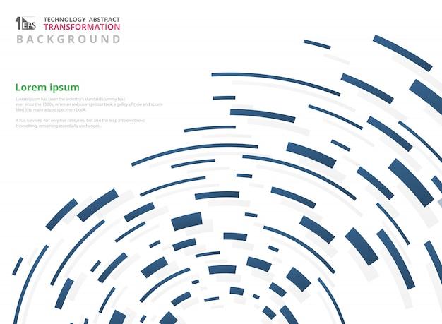 Gradiëntblauw van geometrisch de lijnpatroon van de technologiestreep