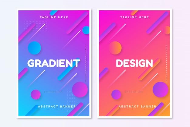 Gradiënte abstracte brochure