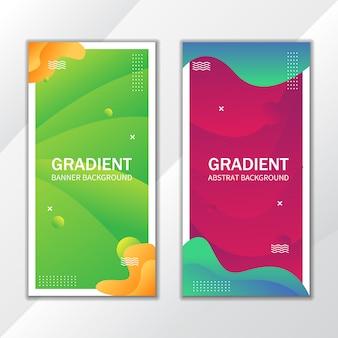 Gradiënte groene en roze abstracte banner