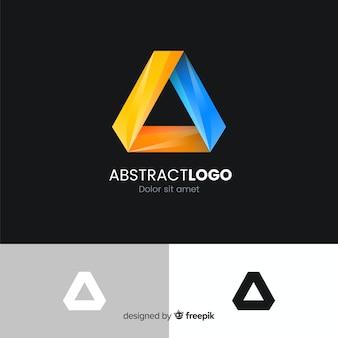 Gradiëntlogo met abstracte vorm