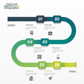 Gradiëntmalplaatje bedrijfsconceptenchronologie.