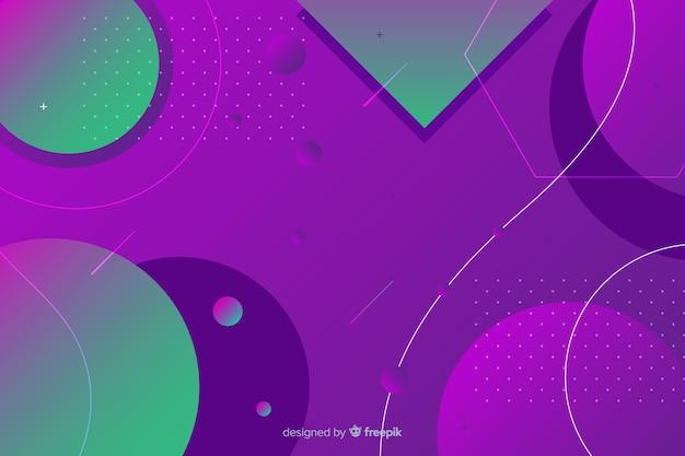 Gradiëntontwerp geometrische vormen