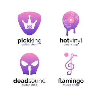 Gradiëntontwerp van muzikale elementen