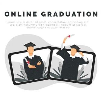 Graduate ceremonie op tablet