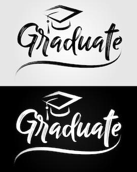 Graduate lettering