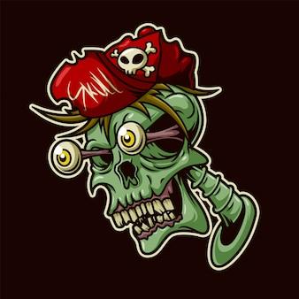 Graffiti cartoon hoofd schedel