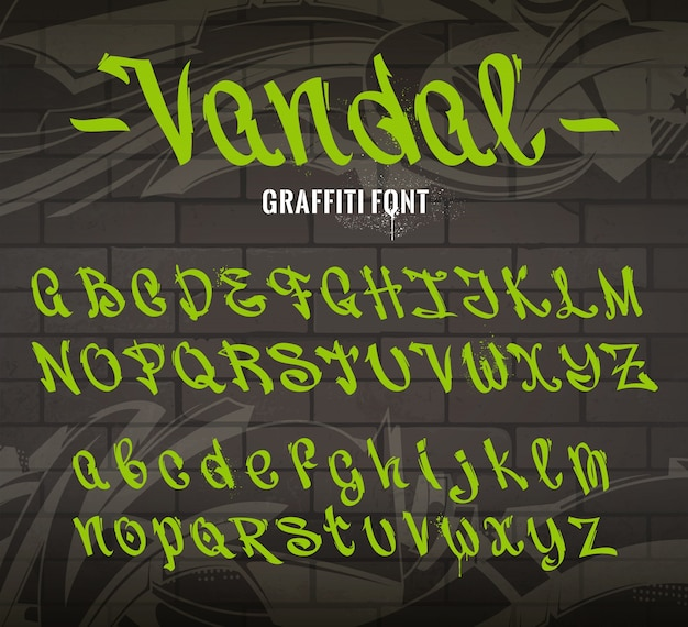 Graffiti lettertype collectie