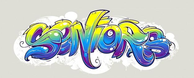 Graffiti ontwerp op de muur