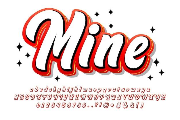 Graffiti penseel lettertype concept script alfabet