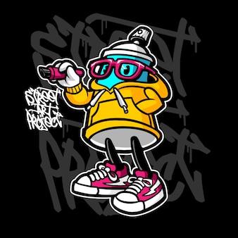 Graffiti spray cartoon