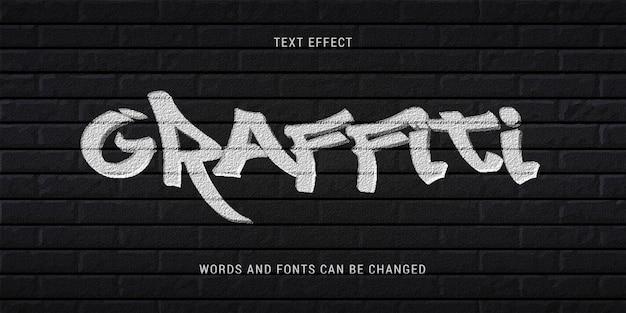 Graffiti teksteffect bewerkbare eps cc