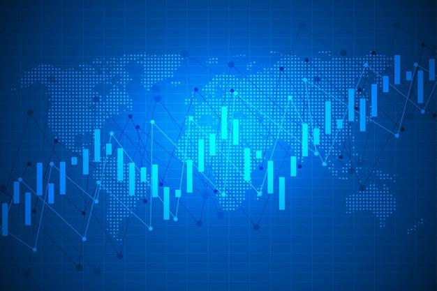 Grafiek en aandelenmarkt