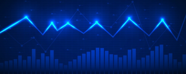 Grafiek financiële gegevens