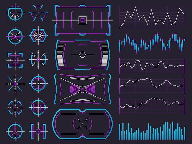 Grafiek, grafiek, interfacekaders en waarschuwingsregelaars