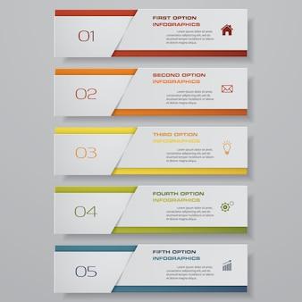 Grafiek infographic element