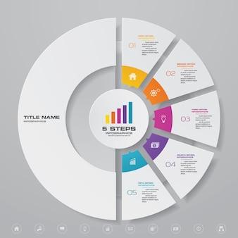 Grafiek infographic voor gegevenspresentatie