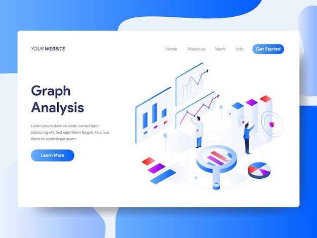 Grafiekanalyse isometrisch voor websitepagina