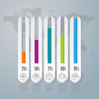 Grafiekelementen voor de presentatie