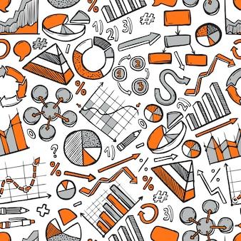 Grafieken schets naadloos patroon