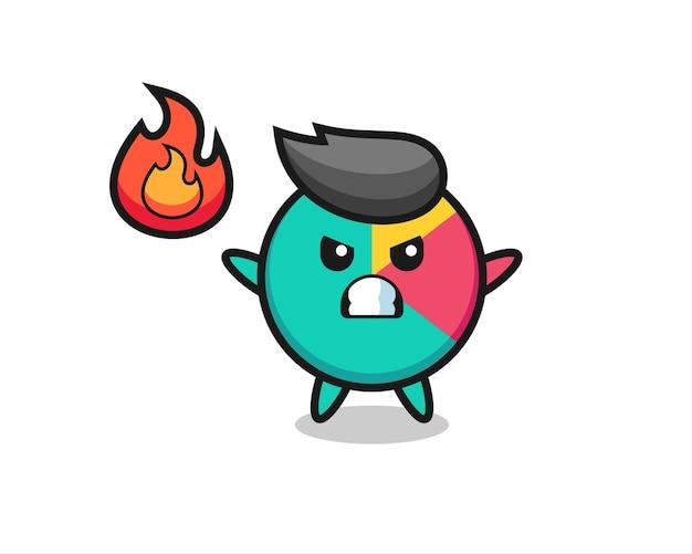 Grafiekkarakterbeeldverhaal met boos gebaar, leuk stijlontwerp voor t-shirt, sticker, logo-element