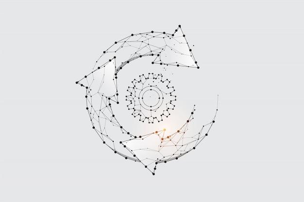 Grafisch concept van technische cyclus