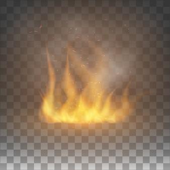 Grafisch element met vlam