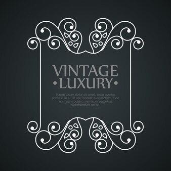 Grafisch frame voor label met decoratieve decoratie