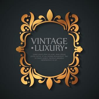 Grafisch label met ornament frame vorm stijl