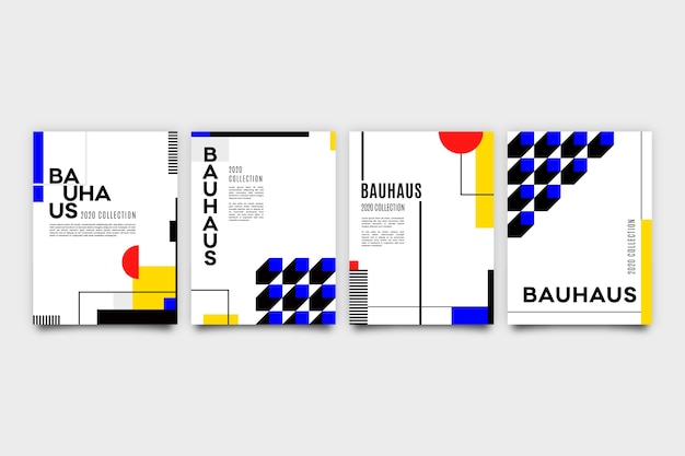 Grafisch ontwerp cover in bauhaus-stijl met stippen