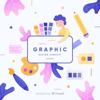 Grafisch ontwerp idee concept