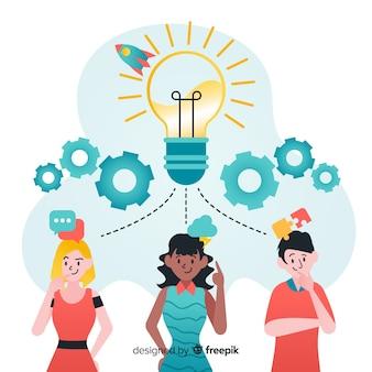 Grafisch ontwerp teamwork concept