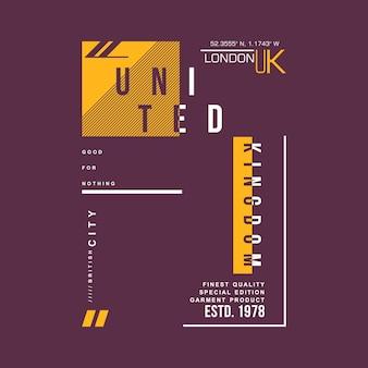 Grafisch ontwerp van het verenigd koninkrijk voor het drukken van kleding