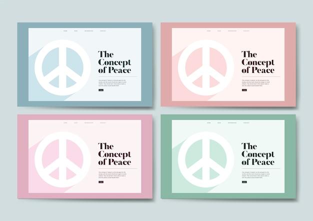 Grafisch ontwerp van informatie over vrede en vrijheid