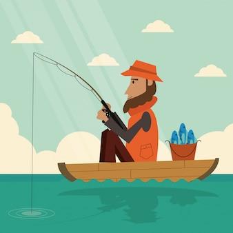 Grafisch ontwerp van vissen