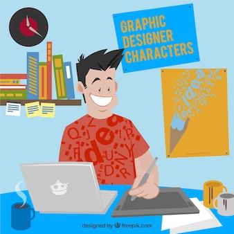 Grafisch ontwerper karakter
