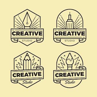 Grafisch ontwerper logo collectie