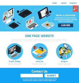Grafisch ontwerpsjabloon voor website