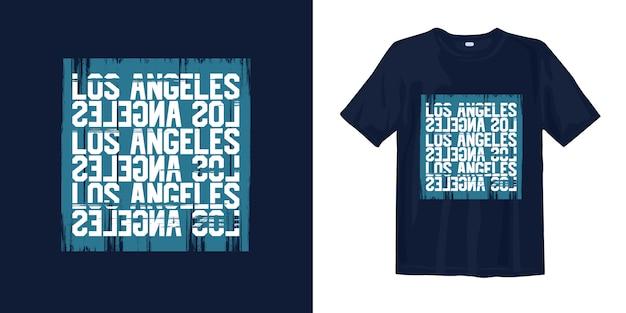Grafische de typografiet-shirt van los angeles