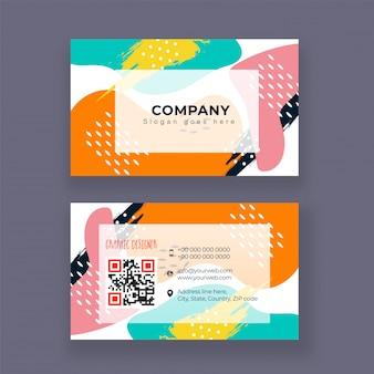 Grafische designer bedrijfskaart of visitekaartjeontwerp