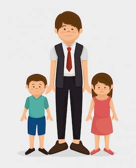 Grafische familie van de familie